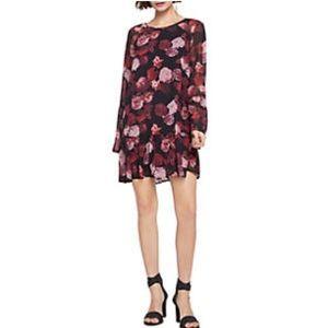 NWT BCBGENERATION Black Red Rose Dress